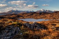Loch Dhughaill. The Cuillin, Winter light. Sleat Peninsula. Isle of Skye. Scotland.