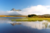 Ben Loyal. Lochan Hakel Mists. Tongue, Sutherland. Scotland.