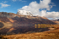 Slioch and Loch Maree Pines. Winter. Wester Ross. Scotland.