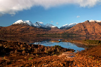 Beinn Alligin. Winter Reflection. Loch Torridon. Wester Ross. Scotland.