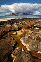 Eigg. Cloud over Rum. Highlands and Islands. Scotland.