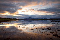 Ashaig. Cuillin Sunset Reflection. Lower Breakish. Isle of Skye. Scotland.