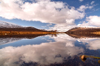 Loch Droma Reflections in Late Winter. Wester Ross. Highland Scotland.