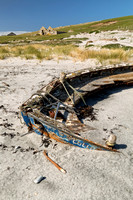 Beached. Abandoned Boat at Berneray. Uist. Outer Hebrides. Scotland.