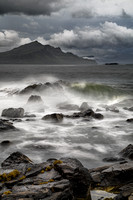 Ben Tianavaig. Storm approaching from Trotternish. Isle of Skye. Scotland.