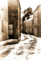 Stromness Street Corner. Toned. Mainland Orkney. Northern Isles. Scotland.