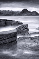 Elgol in Mono. Loch Scavaig and the Cuillins. Isle of Skye. Scotland.