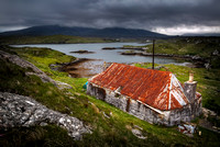 Golden Road .Derelict Cottage. Isle of Harris. Scotland. Highlands and Islands.
