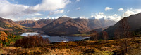 Five Sisters of Kintail. Pano from Mam Ratagan. Highland Scotland.