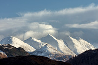 Five Sisters of Kintail. Clearing Skies. Skye and Lochalsh. Highland Scotland.