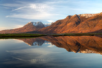 Beinn Alligin, Reflection. #1. Glen Torridon. Scotland.