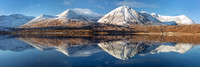 Loch Ainort. Winter Pano. 30 x 10ins. Isle of Skye. Highlands and Islands. Scotland.