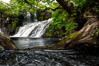 Eas Fors Middle Falls. Isle of Mull. Scottish Highlands and Islands.