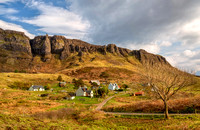 Cleadale in the evening, Springtime. Isle of Eigg. Scotland.