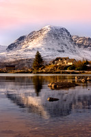 Applecross Mountains , Winter reflection, North West Scotland.