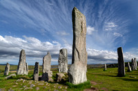 Callanish Stones and Summer Skies. Isle of Lewis. Scotland.