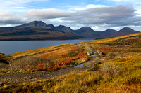 Suisnish track from Kilbride in Autumn. Strathaird. Isle of Skye. Scotland.