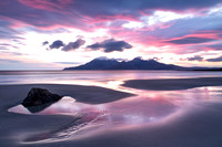 Singing Sands. LE. Pastel Sunset. Isle of Eigg. Scotland.