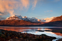 Beinn Alligin.  A Winter Sunset. Loch Torridon. Wester Ross. Scotland.