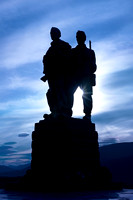 Commando Memorial. Spean Bridge, Highland Scotland.