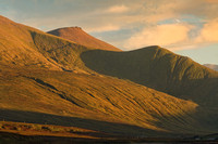 Beinn Spionnaidh in Late Summer. Evening Light. Durness, Sutherland. Scotland.