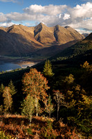 Five Sisters of Kintail. Autumn Colours. North West Highlands. Scotland.