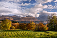 Ben Nevis Range. Autumn Colours. Highland Scotland.