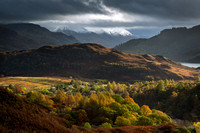 Five Sisters of Kintail. Late Autumn. NorthWest Highlands. Scotland.