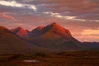 Marsco at Sunset in late August. Sligachan. Isle of Skye. Scotland.