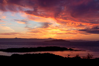 Kyle of Lochalsh . Sunset in Summer, Scotland.