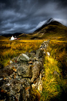 Camasunary Cottage and Blaven. Isle of Skye. Scotland. HDR.