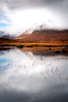 Blackmount and Moody Mists. Lochan Na Stainge. Rannoch. Highland Scotland.