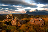 Aird of Coigach. Suilven,  last light. North West Scotland.