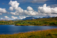 Cuillins and Portnalong from Oronsay Island, Isle of Skye, Scotland.