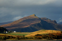 Ben Tianavaig and Old Man of Storr. From Sconser. Isle of Skye. Scotland.