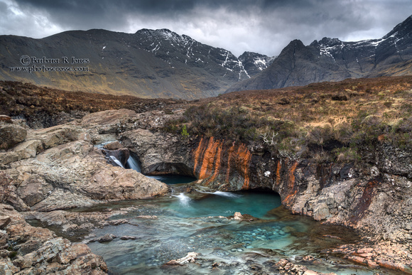Fairy Pools. Colours , March. Glen Brittle. Isle of Skye. Scotland.