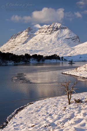 Liathach and Loch Clair in Winter. Torridon. North West Scotland.