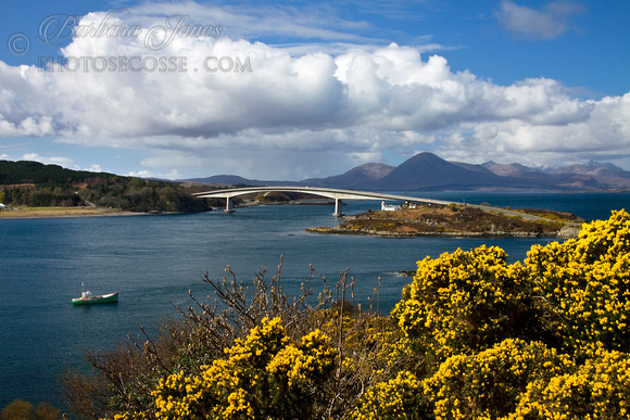 Skye Bridge in Springtime, Kyle of Lochalsh, Scotland.