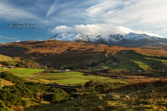Cuillins from Drynoch. Autumn. Isle of Skye. Scotland.