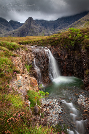 Fairy pools ravine in August . Isle of Skye. Scotland.