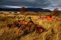 Drumbuie Crofting Fields. Abandoned machinery . North West Highlands. Scotland.