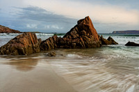 Ceannabeinne Beach. Red Rocks. Durness. Sutherland. Northern Scotland.
