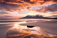 Singing Sands ( Camus Sgiotaig ) Sunset Reflections. Isle of Eigg. Scotland.