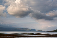 Gribun. Early morning clouds across Loch na Keal. Island of Mull. Scotland.