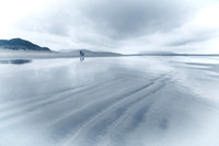Luskentyre Beach in the Rain. Mono. Isle of Harris. Scotland.