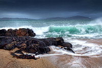 Bagh Steinigidh and Taransay. Wave Action. Scarista. Isle of Harris. Scotland.