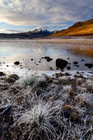 Blaven, frosted grasses. Torrin. Isle of Skye. Scotland.