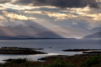 Badicaul. Skye Sunbeams. Autumn. Lochalsh. North West Highlands. Scotland.