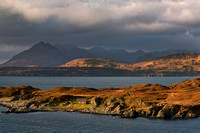 Tarskavaig Bay and moody light. Sleat. Isle of Skye. Scotland.