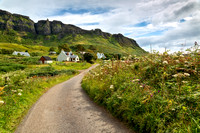 Cleadale and Summer Flowers. Isle of Eigg. Small Isles. Scotland.